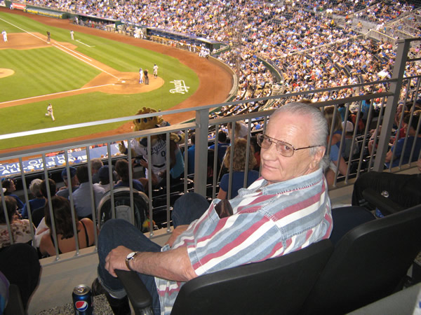 Cameron Veterans Home veteran at a ballgame