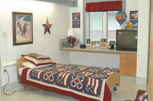 Veteran's room at St. Louis Veterans Home