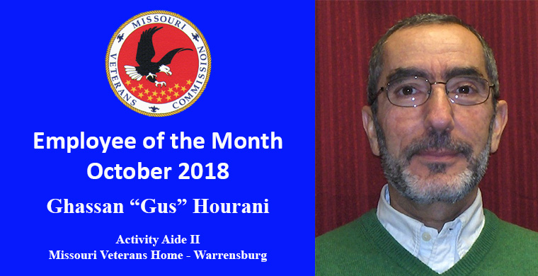 Ghassan 'Gus' Hourani, Activity Aide II, October Employee of the Month