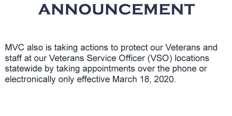 Announcement on Veterans Homes Appointments