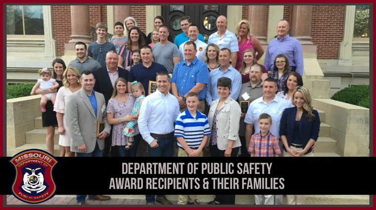 Department of Public Safety Award Recipients and their Families
