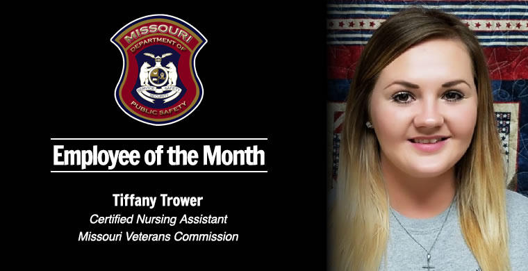 Tiffany Trower, CNA, DPS April Employee of the Month