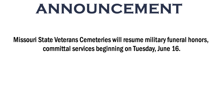 Announcement on MVC Cemetery Office Visits