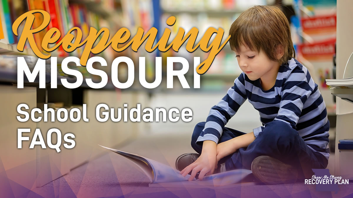 reopening school guidance