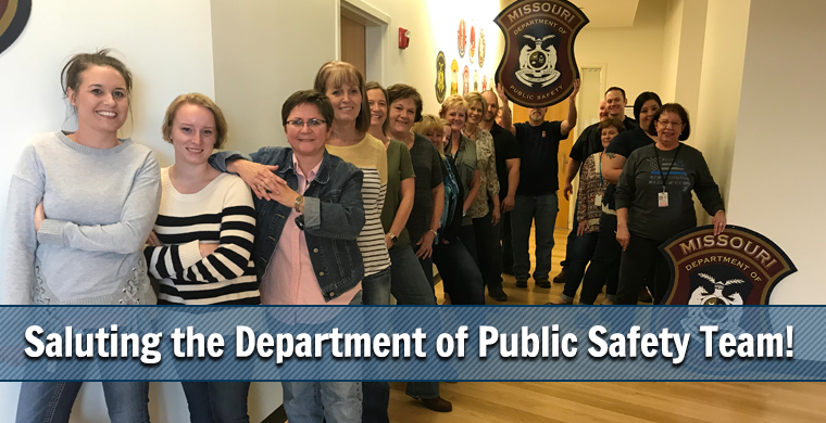 Saluting the Department of Public Safety Team!