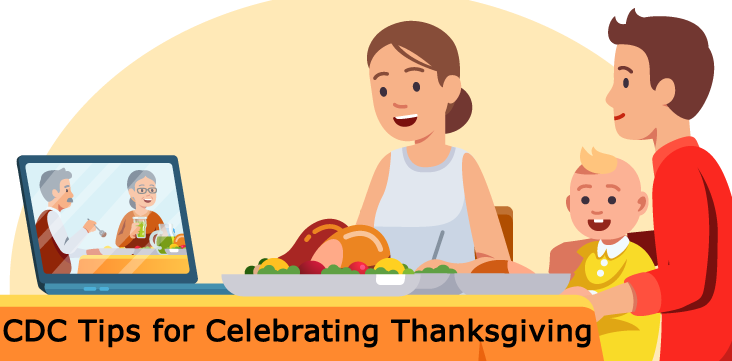 celebrating Thanksgiving virtually - links to CDC